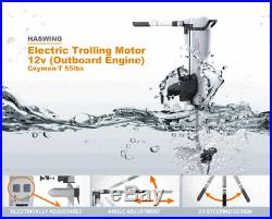 Electric Trolling Motor 55 lb Variable Speed Depth Transom Trolling Motor 12V