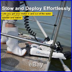 Haswing White 12V 55LBS 48 Variable Speed Bow Mount Electric Trolling Motor
