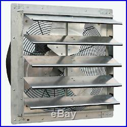 ILiving 20 Inch Variable Speed Wall Mounted Steel Shutter Exhaust Fan (2 Pack)