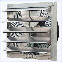 ILiving 20 Inch Variable Speed Wall Mounted Steel Shutter Exhaust Fan (Open Box)