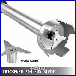 Immersion Blender Electric Handheld Mixer Variable Speed 500W 500mm Stick 110V