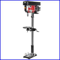 Industrial Drill Press Floor Adjustable Table with Laser Guide Variable 16-Speed