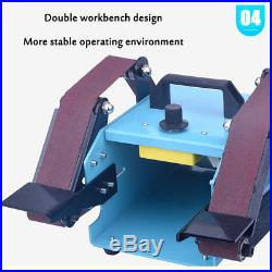 NEW 950With220V Double Axis Electric Sander Belt Variable Speed Grinding Machine