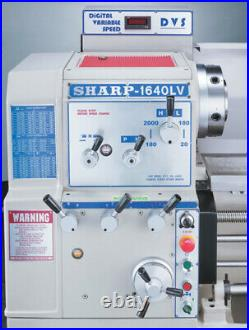 NEW! SHARP 16x40 Variable Speed Manual Gap Bed Lathe with DRO, 10 Chuck