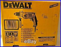 New Dewalt Dw246 Heavy Duty 1/2 Variable Speed Corded Drill Reversible