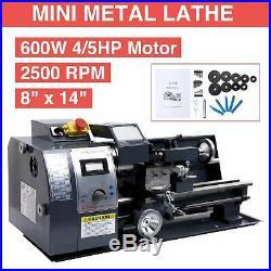 New Mini Metal Lathe Machine Variable Speed 2500 RPM 8x 14 DC Motor Digital