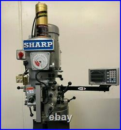 New Sharp Lmv-50 Milling Machine Variable Speed Power Feed Fagor Dro -bridgeport