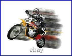 Razor MX650 Rocket Electric Motocross Bike Yellow 650 Watt Motor Variable Speed
