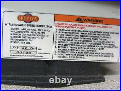 Shop Fox W1713 16-Inch Variable Speed Scroll Saw