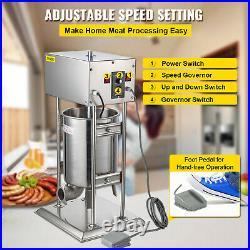 VEVOR 10L Electric Stainless Vertical Sausage Stuffer Meat Maker Filler 110V