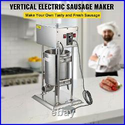 VEVOR 12L Electric Stainless Vertical Sausage Stuffer Meat Maker Filler 28LBS