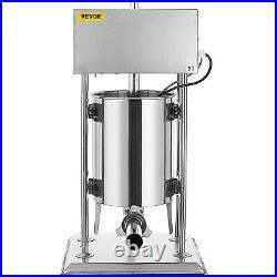 VEVOR 15L Electric Sausage Filler Stuffer Vertical Salamil Stainless Steel