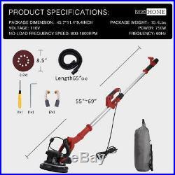 VIVOHOME 750W Electric Variable Speed Drywall Sander Sanding Machine Vacuum Bag