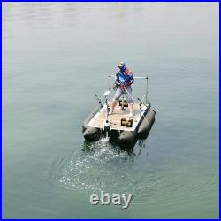White Haswing 12V 55LBS 54Bow Mount Electric Trolling Motor + Quick Release
