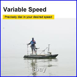White Haswing 12V 55LBS 54 Electric Bow Mount Trolling Motor Hand+Foot Control