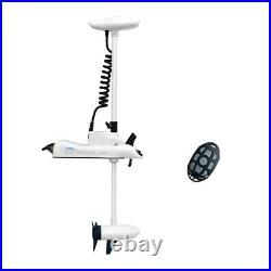 White Haswing 24V 80LBS 48 Bow Mount Electric Trolling Motor with Hand Control